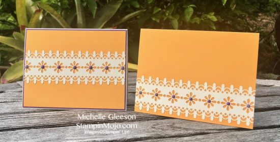 Stampin Up Delightfully Detailed Laser Cut DSP Simple Note Card Michelle Gleeson Stampinup SU
