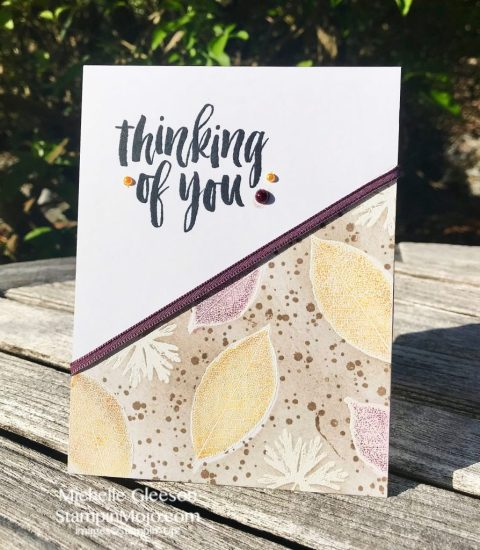 Stampin Up Rooted in Nature GDP#140 Thinking of You card ideas Michelle Gleeson Stampinup SU