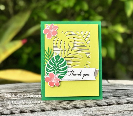 Stampin Up Tropical Chic Bundle Thank You Cards Michelle Gleeson Stampinup SU