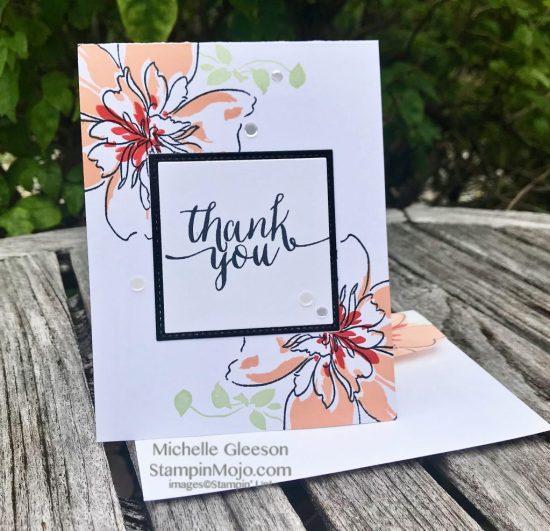Altenew Floral Art Thank you card ideas Michelle Gleeson