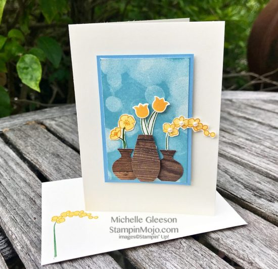 Stampin Up Bokeh Dots Varied Vases Anytime card ideas Michelle Gleeson Stampinup SU