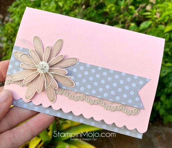 Stampin Up Scalloped Note cards Daisy Lane Anytime card ideas Michelle Gleeson Stampinup SU