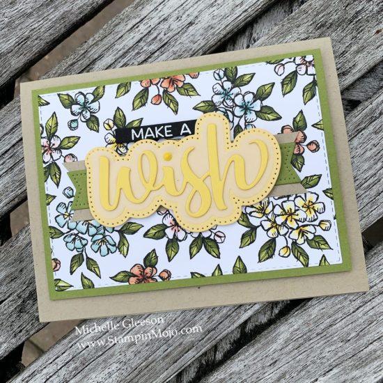 Stampin Up Bird Ballad DSP Honey Bee Wishes Die Birthday card idea Michelle Gleeson Stampinup SU