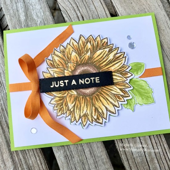 Stampin up Celebrate Sunflowers Bundle The Spot Creative Color Challenge #112 #GDP242 Anytime cards Michelle Gleeson Stampinup SU