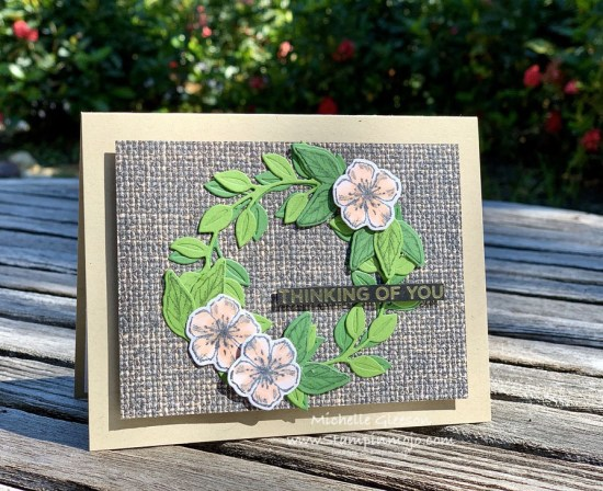 Stampin Up In Good Tast DSP Wreath Builder Dies Forever Blossoms Anytime card ideas Michelle Gleeson FMS440 Stampinup SU