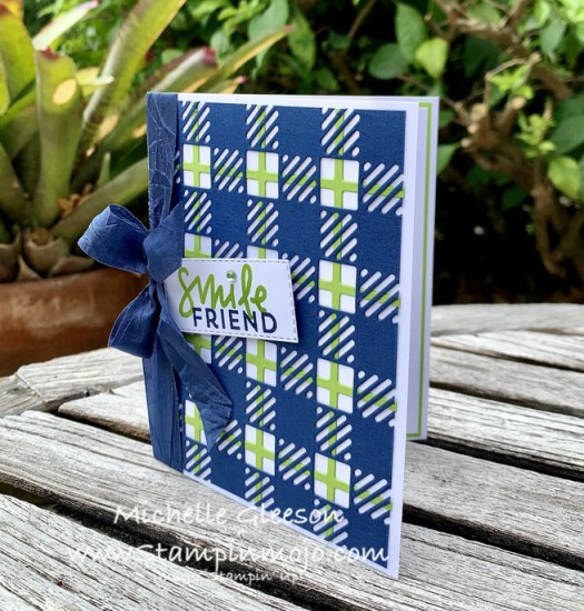Stampin Up Best Plaid Builder C9 Dahlia Anytime Card Idea Michelle Gleeson Stampinup SU