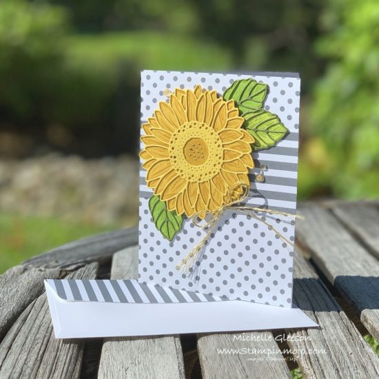 Stampin Up Celebrate Sunflowers Bundle Anytime card idea Michelle Gleeson Stampinup SU
