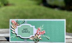 Stampin Up Forever Fern Slimline Birthday card idea Mchelle Gleeson Stampinup SU