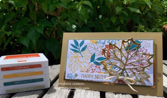 Concord & 9th Thankful Leaves Turnabout Poppy Stamps Birthday Blowout Masculine Birthday Card Ideas Michelle Gleeson