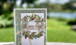 Stampin Up PALS Blog Hop Sept 2020 Guilded Sutumn DSP Arrange a Wreath Dies Birthday Card Ideas Michelle Gleeson Stampinup SU