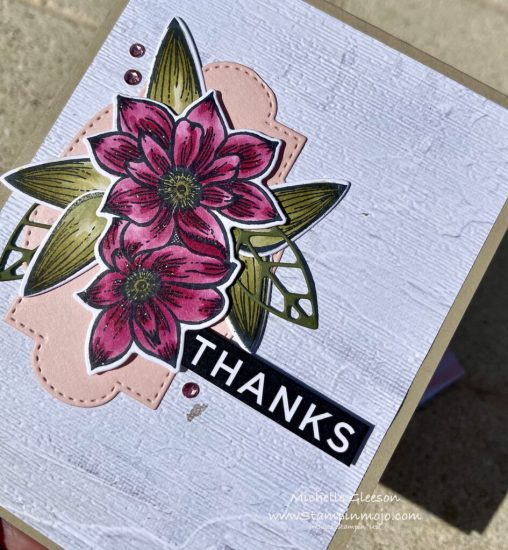 Stampin Up Delicate Petals Bundle Thank you card ideas Michelle Gleeson FMS#474 Stampinup SU