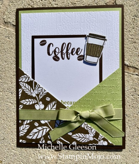 Coffee Lovers Card Michelle Gleeson Tutorial Design by Jeanie Stark