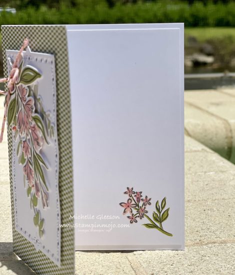 The Greetery Summer Sketches Greetery Simple Things Anytime Card idea inside peek Michelle Gleeson