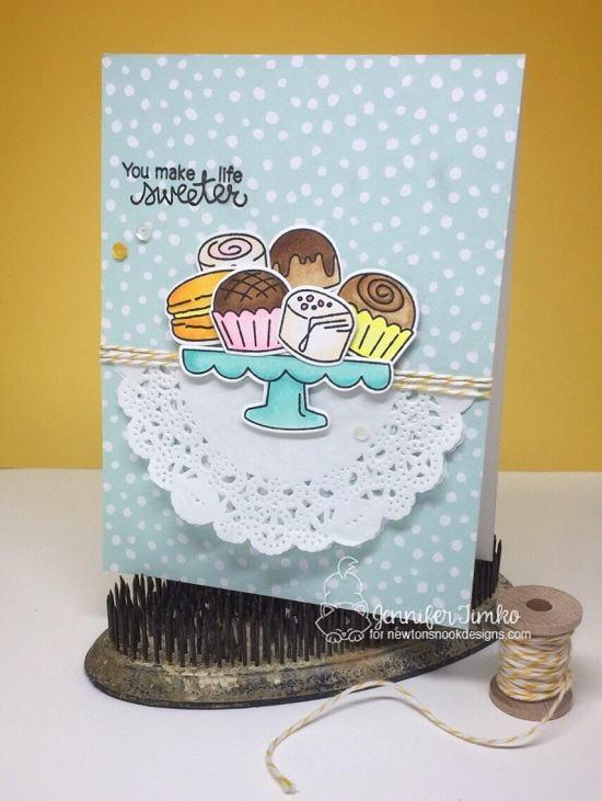 You Make Life Sweeter Card by Jen Timko | Love & Chocolate Stamp Set by Newton's Nook Designs #newtonsnook