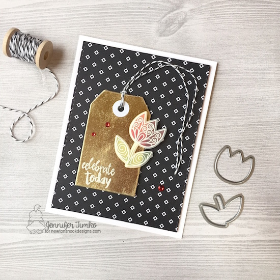 Beautiful Flower by Jen Timko   Beautiful Spring Stamp Set and Dies by Newton's Nook Designs, Happy Little Thoughts Stamp Set by Newton's Nook Designs, Pop of Pink DSP by Stampin' Up