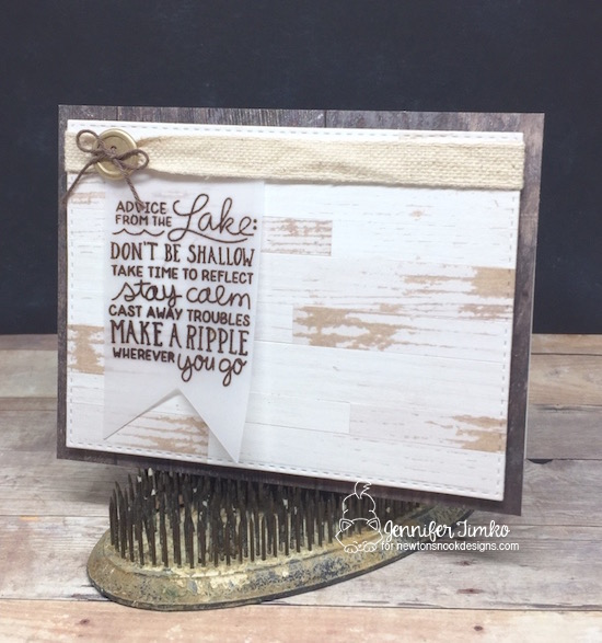 Advice from the Lake by Jen Timko | Lake Advice Stamp Set by Newton's Nook Designs, Wood Textures DSP by Stampin' Up