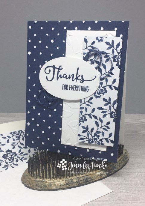 FMS300 by Jen Timko | Vibrant Thanks Stamp by Power Poppy, Floral Boutique DSP by Stampin' Up, Layered Leaves Embossing Folder by Stampin' Up