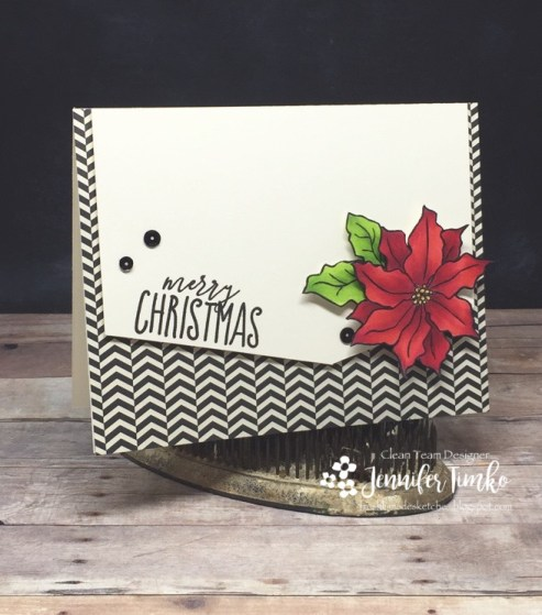 FMS301 by Jen Timko | Poinsettia Stamp by Simon Says Stamp, O Christmas Tree Stamp by Concord and 9th, Copic Coloring