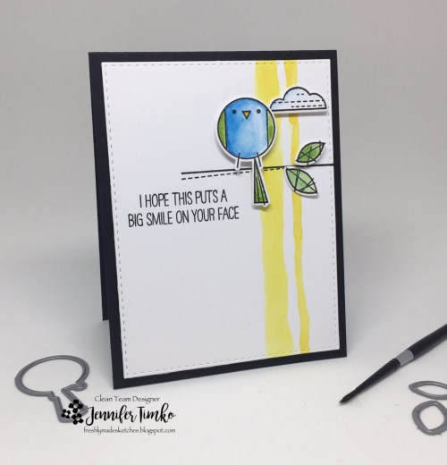 FMS303 by Jen Timko | Happy Birds Stamp by WPlus9, Watercolor, Winsor and Newton Paints