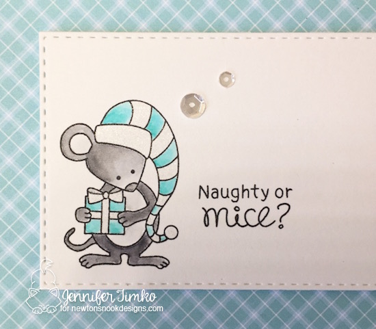 Naughty or Mice Closeup by Jen Timko | Naughty or Mice Stamp Set by Newton's Nook Designs, Wink of Stella