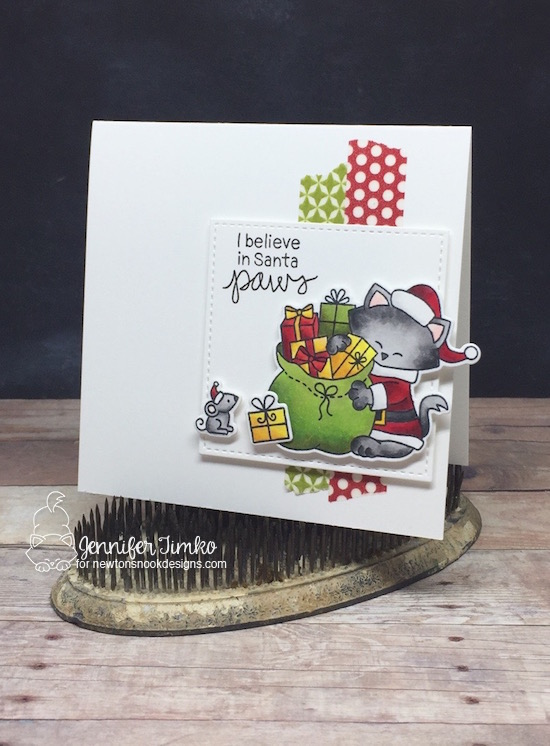 I Believe by Jen Timko | Santa Paws Newton by Newton's Nook Designs, Copic Coloring