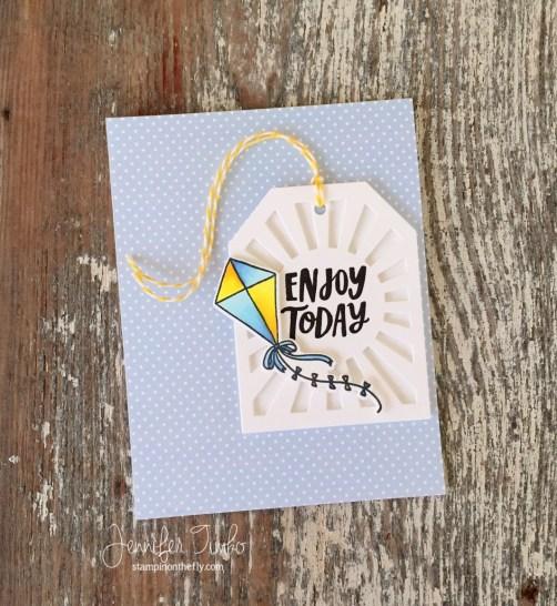Enjoy Today by Jen Timko | Take Flight Stamp and Dies by Reverse Confetti, Sunburst Tag Layer Confetti Cuts (Reverse Confetti), Copic Coloring, My Sweet Petunia's Original Misti