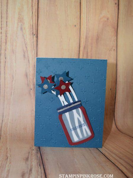 Stampin' Up! CAS Friendship made with Jar of Love stamp set. Designed by demo Pamela Sadler. See more cards at stampinpinkrose.com #stampinpinkrose
