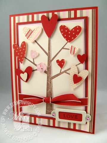 Stampin up season of friendship valentine