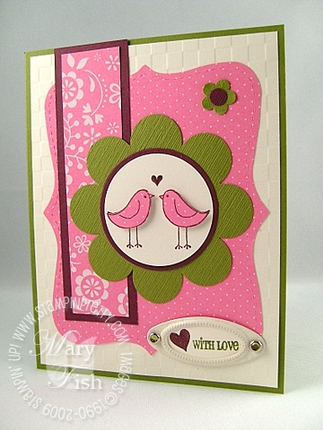 Stampin up love you much love birds
