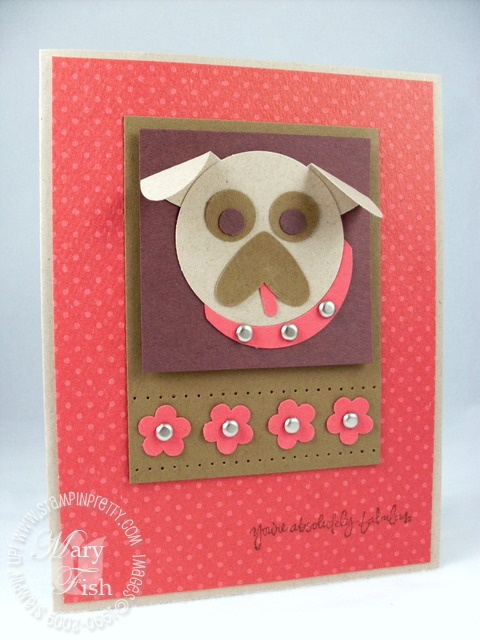 Stampin up absolutely fabulous pug