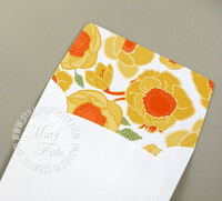 Stampin up stampin pretty lined envelope