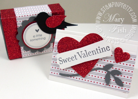 Stampin up valentine card matchbox big shot