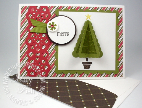 Stampin up rubber stamp pennant punch parade holiday mini catalog