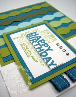 Stampin up big shot delightful dozen rubber stamp birthday card blog idea