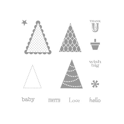 Pennant parade rubber stamps stampin up