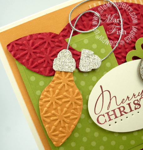 Stampin up big shot holiday stocking accents bigz die card idea