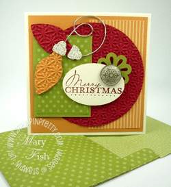 Stampin up big shot bigz die holiday card contempo christmas idea