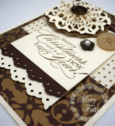 Stampin up lace border punch snowflake demonstrator video tutorial