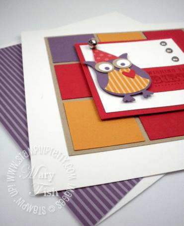Stampin up demonstrator blog birthday card idea owl punch