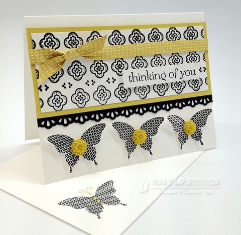 Stampin up demonstrator blog catalog butterfly punch card ideas mojo monday
