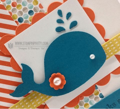 Stampin up stampinup pretty oh whale big shot machine spring catalog card ideas punch order online