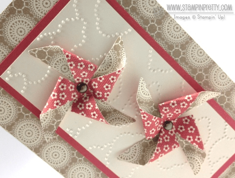 Stampin up stampinup pretty order pinwheel die birthday card idea spring catalogs