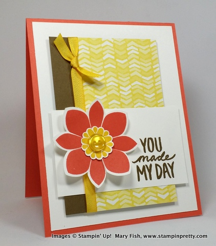 Stampin up stampin' up! stampinup stamping pretty mary fish best day ever
