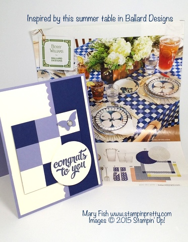Tin of Cards Congratulations Card Stampin Up Mary Fish Blog Pretty catalog