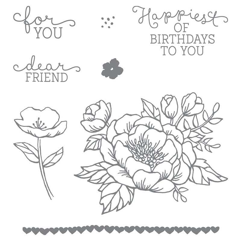 Stampin Up Birthday Blooms Stamp Set