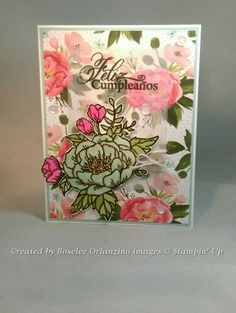 Pals Paper Crafting Card Ideas Birthday Blossoms Mary Fish Stampin Pretty StampinUp