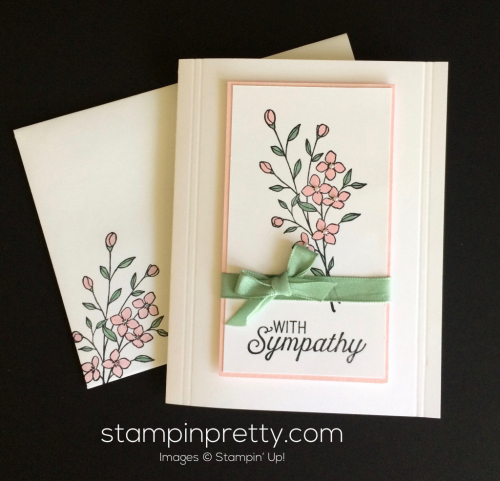 Stampin Up Touches of Texture Sympathy card idea - Mary Fish stampinup