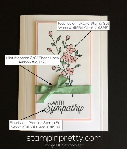 Stampin Up Touches of Texture Sympathy card ideas - Mary Fish stampinup