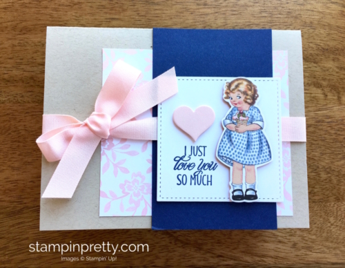 Stampin Up Birthday Friends Framelits Dies Love Card Idea - Mary Fish StampinUp