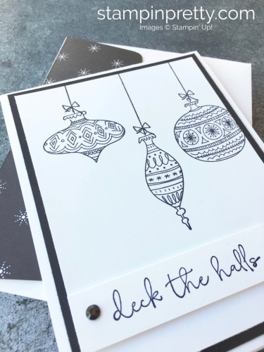 Learn how to create this holiday card using Stampin' Up! Seasons of Whimsy Stamp Set - Mary Fish StampinUp